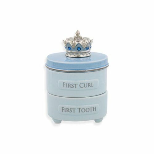 First Tooth and Curl Keepsake Box Blue