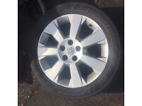VAUXHALL VECTRA C ALLOY WHEEL 17 INCH ELITE NEARLY NEW TYRE 7MM TREAD 215/50/ZR17 5 STUD