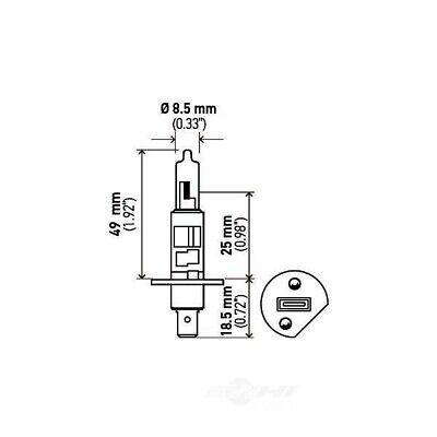 Headlight Bulb-4 Door Hella H1 130W