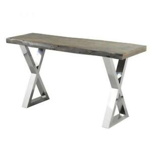 LIVE EDGE CONSOLE TABLE-LIVE EDGE FURNITURE TORONTO SALE(BD-844)
