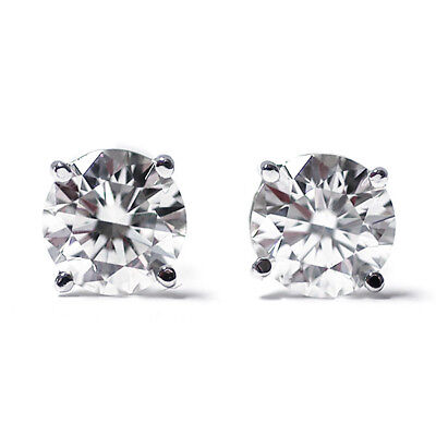 1/2 cttw Round Cut 14K White Gold Diamond Stud Earrings
