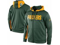 Nike Green Bay Packers NFL Therma-Fit Zip Hoodie in size S