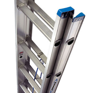 Like New Werner 20 ft. Aluminum Extension Ladder with 225 lb. Lo