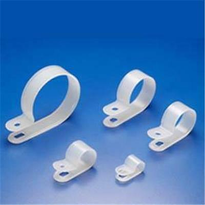 100 Pcs R-type 14 Nylon Cable Clamps White