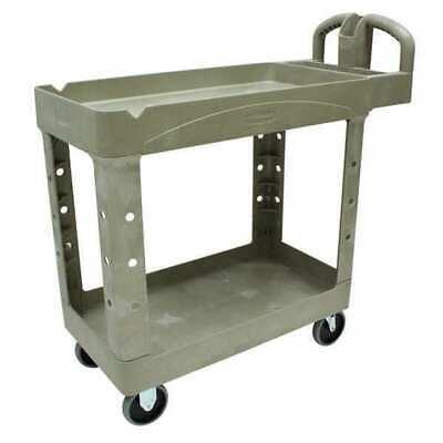 Rubbermaid Fg450088beig Raised Handle Deep Shelf Utility Cart 500 Lb. Capacity
