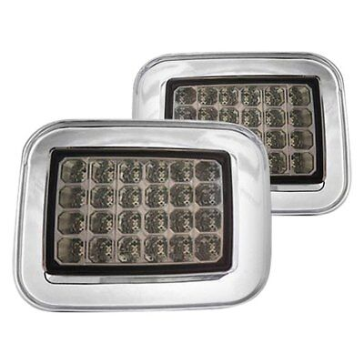 Hummer H2 Corner Lights - For Hummer H2 2003-2008 IPCW Chrome/Platinum Smoke LED Turn Signal/Corner Lights