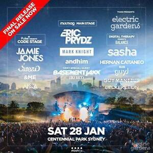 Electric Garden Ticket - Sydney $140 ea Bondi Eastern Suburbs Preview
