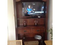 Shelving unit solid wood lovely piece of furniture