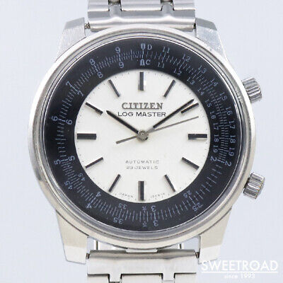 Citizen AUOS 52401-TA Vintage Cal.6400 Log Master Rare SS Automatic Mens Watch