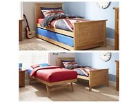Single bed with guest sleeper in white wood