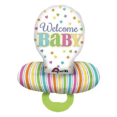 Schnuller, Luftballons (FOLIENBALLON BABY SCHNULLER 56 X 73 CM LUFTBALLON FOLIEN-BALLON NEU)