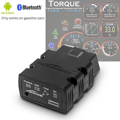 ODB2 OBDII Car Diagnostic Scanner Code Reader ELM327 Bluetooth For Android & PC
