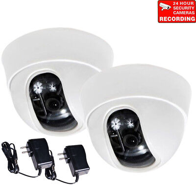 2x Security Cameras Wide Angle View with 1/3