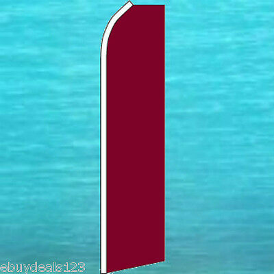 Solid Burgundy Flutter Flag Tall Curved Event Sign Feather Swooper Wind Banner
