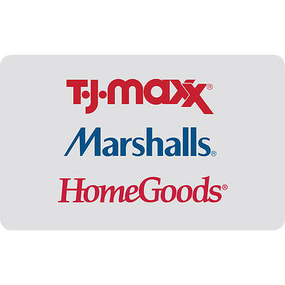 25    50    100 T J Maxx Gift Card   Mail Delivery