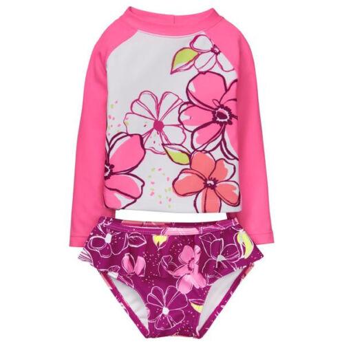 Gymboree Girls Swim Floral Rashguard Swimsuit 2T 5T NWT UPF 50+