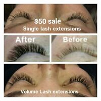Master certified/Licensed Eyelash extension tech.. Special  $50