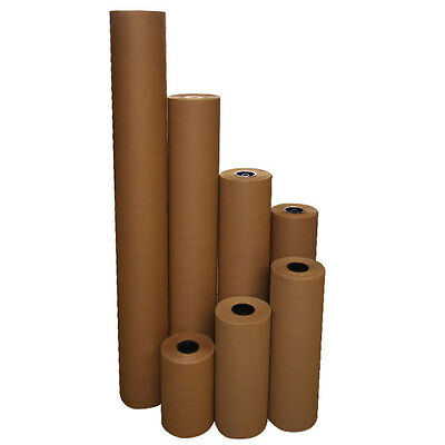 24 40 Lbs 900 Brown Kraft Paper Roll Shipping Wrapping Cushioning Void Fill