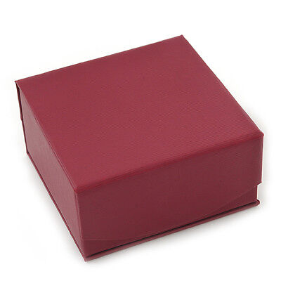 Stylish Cranberry Square Cardboard Gift Box with Magnetic Lid Closure Cardboard Box With Lid