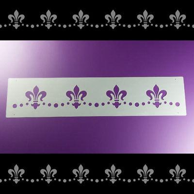 Bordüre Schablone Ornament Fleur de Lis Lilie Lys - B1B25 Fleur De Lis Lys