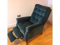 Recliner Green Chair