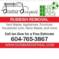 Rubbish Junk Garbage Removal  DUNBAR DISPOSAL