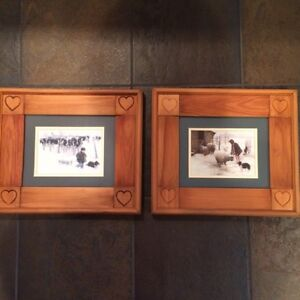 wall pictures in wood frames