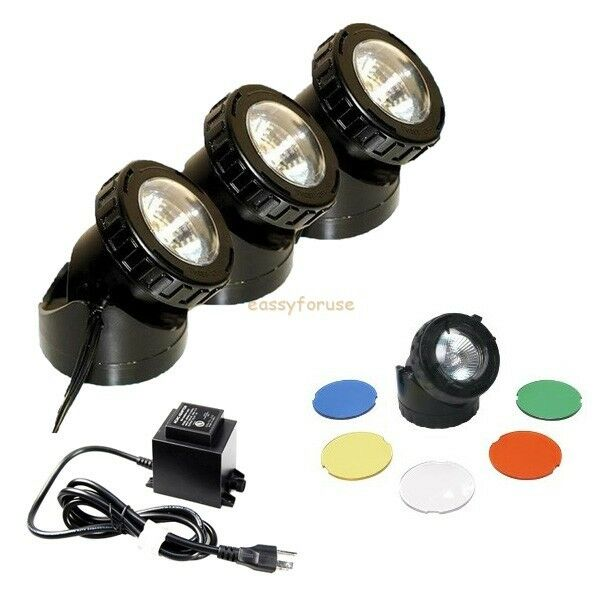 SUBMERSIBLE HALOGEN LIGHT KITS for FISH POND FOUNTAIN WARM WHITE COLOR LENS