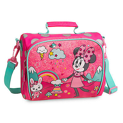 NWT Disney Store Minnie Mouse Club House Lunch Tote Box Bag School Pink Girl