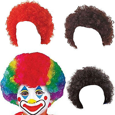 CHILDRENS KIDS CURLY AFRO POP CLOWN WIG FANCY DRESS COSTUME ACCESSORY (Kids Clown Wigs)