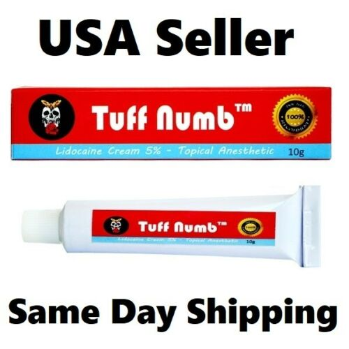 10g Tuff Numb Lidocaine skin cream waxing tattooing piercing derma rolling