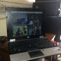 Laptop win7- wifi +dvr (digital video recording) 4 cameras 140$