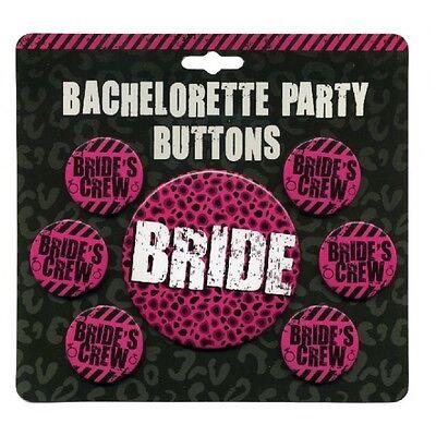 Bachelorette Party Buttons (BRIDE'S CREW Bachelorette Party Buttons)