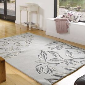 Stunning 80% Pure Wool Rug from Flair, Grey Slate colour, collection NR6 6GB