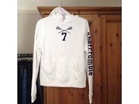 Abercrombie kids white hoodie XL