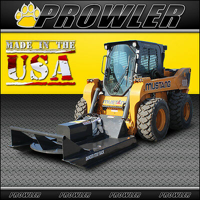 60 Inch Standard Duty Brush Mower 11-20 Gpm Flow Skid Steer Cutter Attachment