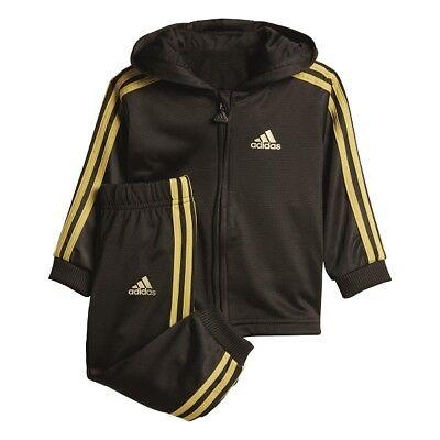 Baby Anzug (Adidas, Baby-Jogger Shiny Trainingsanzug Jacke-Hose-Set, Kombi. CF7396)