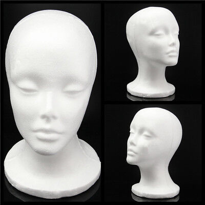 Foam Wig Head White Styrofoam Mannequin Head Diy Hat Cap Wig Display Practice