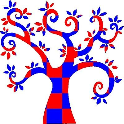 30 Custom Patriotic Pattern Tree Personalized Address Labels