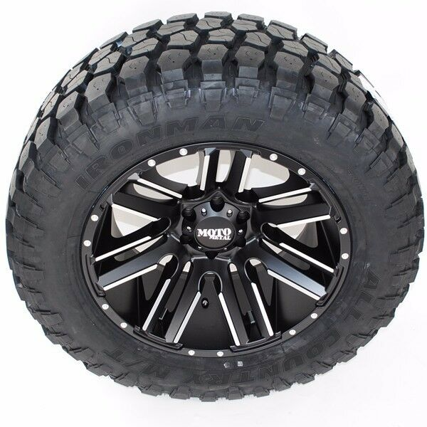 "20"" Moto Metal 978 33x12.50r20 Ironman Mt Tires 20x12 2500hd Dodge Ram 2500 33"""