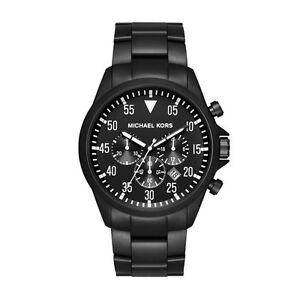 Michael Kors Gage Black Ion-Plated Stainless Steel Chronograph