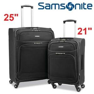 NEW* SAMSONITE 2PC LUGGAGE SET 238207572 STACKIT PLUS SPINNER SOFTSIDE