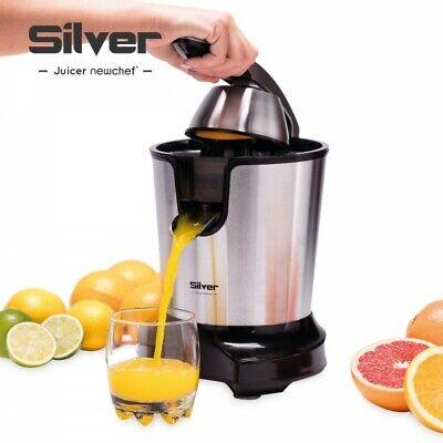NEWCHEF-Exprimidor Eléctrico de Naranjas y Cítricos Juicer Silver Negro, 300w, D