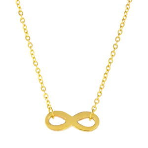 GOLD INFNITY LOOP WOMEN NECKLACE
