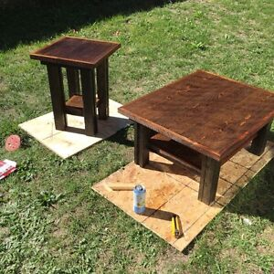 Custom tv table with matching coffee and side tables  Peterborough Peterborough Area image 2