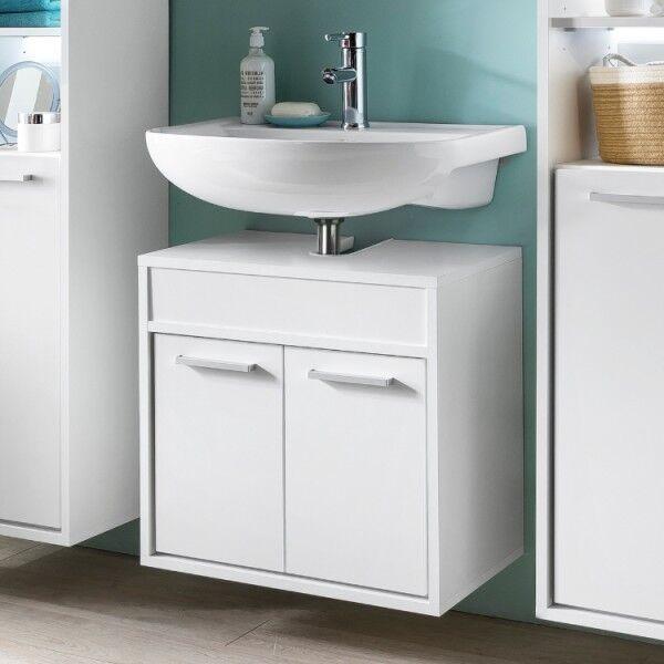 Waschbeckenunterschrank Unterschrank Badschrank Badmöbel Weiß Hängend Bad Modern