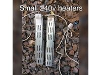 X2 small 240v electric heaters chickens , caravan , campers ect can post