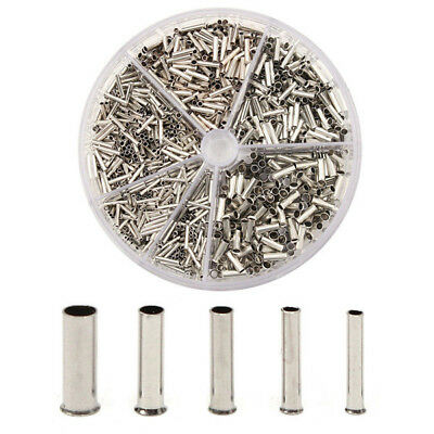 X1900 Insulated Cable Lugs Wire End Sleeves Ferrules Kit 0.52.5mm Assortment