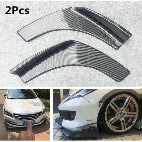Car Front Bumper Lip Diffuser Splitters Anti Collision Strip Carbon Fiber Design