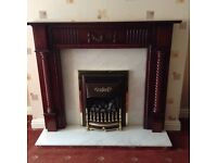 Adams style fireplace complete with gas fire